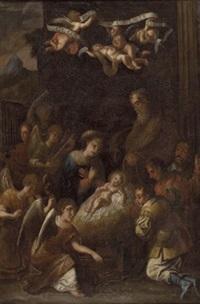 anbetung des christuskindes durch die hirten mit musizierenden engeln by austrian school-tyrolean (17)