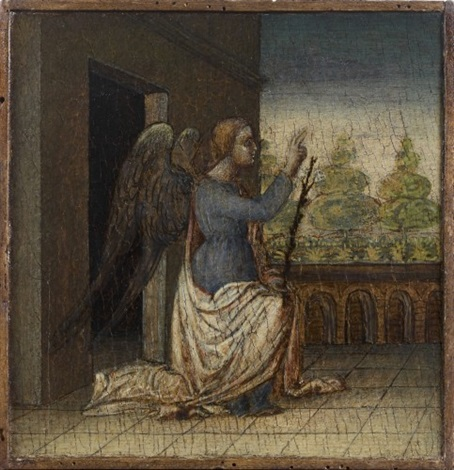 ange de l'annonciation (+ 3 others; 4 works) by giovanni bellini