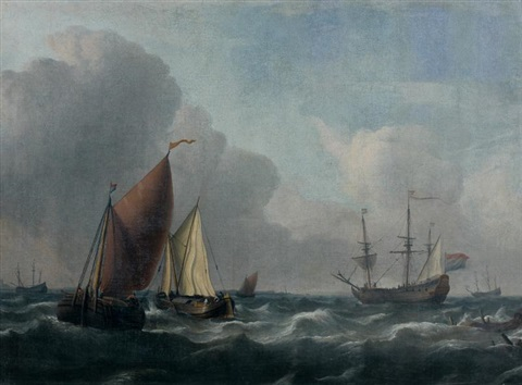 marine par temps calme by ludolf backhuysen the elder