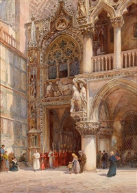 porta della carta, venedig, dogenpalast by william harding smith
