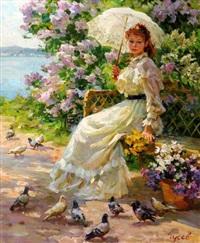 feeding the pigeons by vladimir gusev