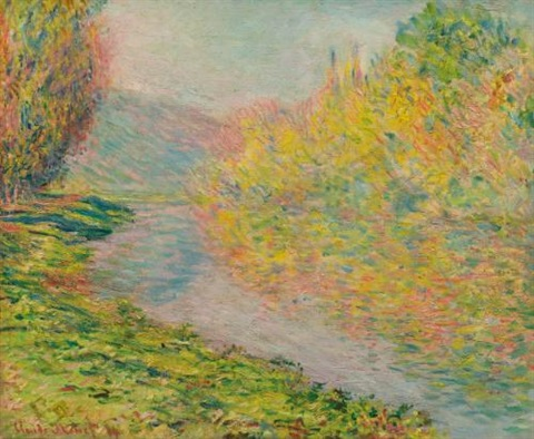 automne à jeufosse by claude monet