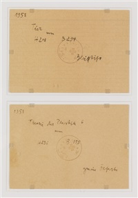 untitled (note cards) (in 2 parts) by joseph beuys