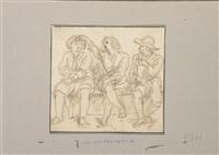 etude de trois hommes assis by abraham van diepenbeeck