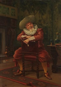l'homme à la pipe by alfred charles weber