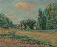 paysage d'ile de france (environ de saint chéron) by armand guillaumin