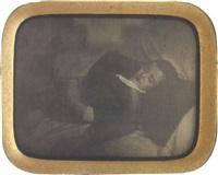 jeune garçon sur son lit de mort au livre ouvert by dodero
