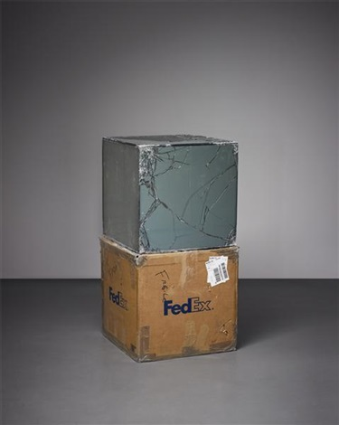 fedex® kraft box© 2005: fedex standard overnight los angeles–new york, trk# 8675 2590 1103... by walead beshty