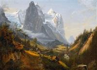 sommerliche ansichten vom berner oberland (pair) by paul rötter
