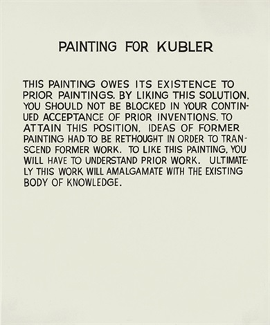 painting for kubler by john baldessari