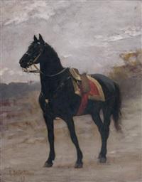 tunis, le cheval noir du général boulanger by edouard bernard debat-ponsan