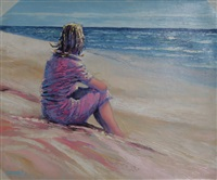 girl on beach by bassari