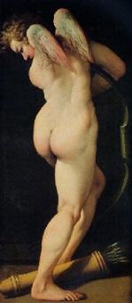 cupidon bandant son arc by baldassare (il galanino) aloisi