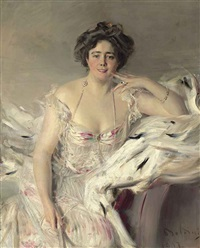 portrait of lady nanne schrader, née wiborg by giovanni boldini