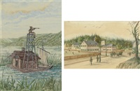 boathouse on the mississippi (+ union hotel by hardley; 2 works) by franz holzlhuber