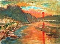 桐庐看日出 by lin dachuan