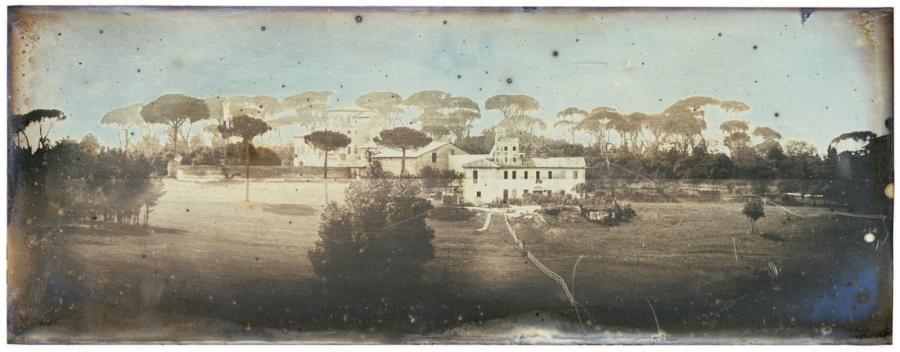 atelier du peintre raphaël dans le jardin de la villa borghese rome by joseph philibert girault de prangey