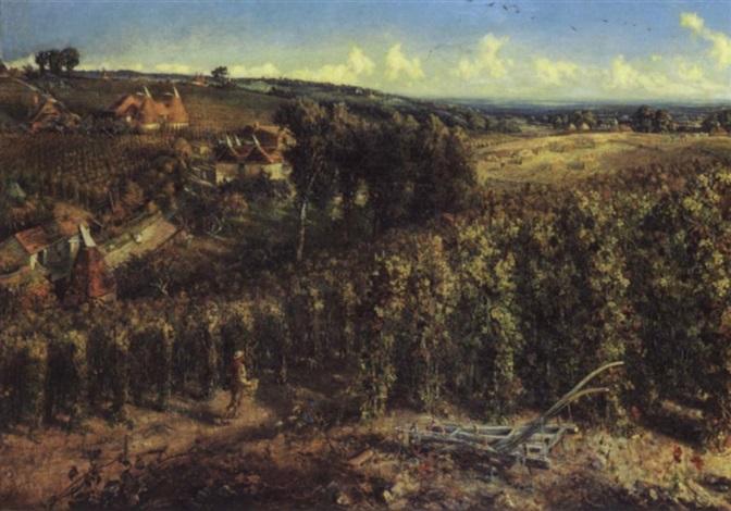 the hop gardens of england by cecil gordon lawson