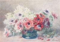 anémones dans un vase by françois rivoire