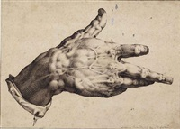 the artist's right hand by hendrik goltzius