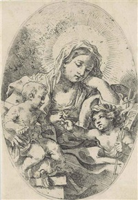 madonna and child with saint john the baptist by lorenzo loli