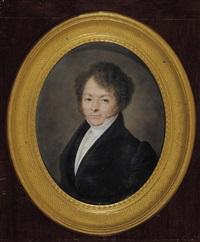 portrait d'homme by louis françois aubry
