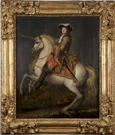 louis xiv, roi de france et de navarre, à cheval by rené antoine houasse