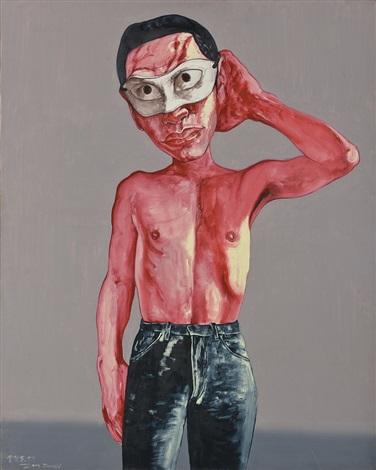mask series no15 面具系列 no15 by zeng fanzhi