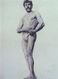 untitled male model by walter ufer