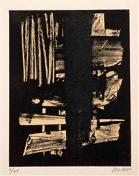 lithographie n°9 by pierre soulages