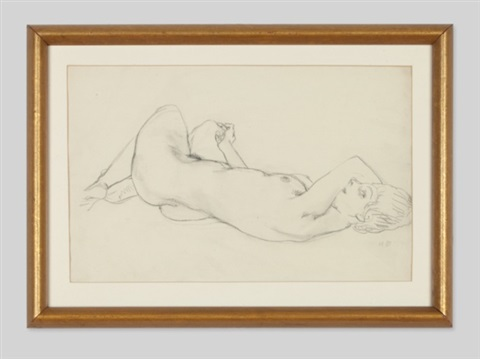 female nude by hans böhler