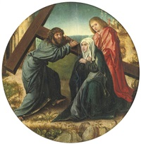 christ carrying the cross by gerard david