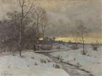 winter evening by heinrich gogarten