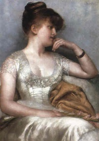 a pensive lady by gerard van den bos