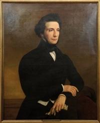 portrait d'homme en habit noir by jules (jean-françois-hyacinthe) laure