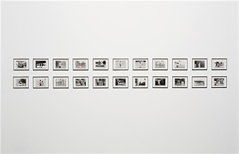 a movie directional piece where people are walking version a 22 works by john baldessari