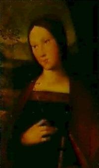 sainte tenant une croix et un livre by boccacio boccaccino