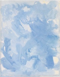 untitled (composition in blue) by beauford delaney