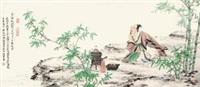 煮茗图 by ren zhong