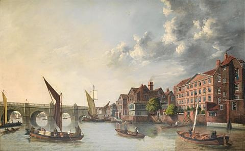 york house with old westminster bridge in the distance by samuel scott