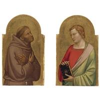 st. john the evangelist (+ st. francis; pair) by bernardo daddi