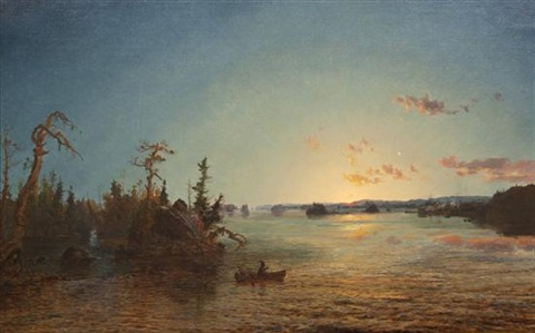 dawn of morning lake george by jasper francis cropsey