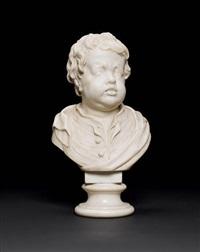 bust of a crying boy by jan pierer van baurscheit