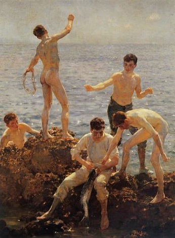 midsummer morning by henry scott tuke