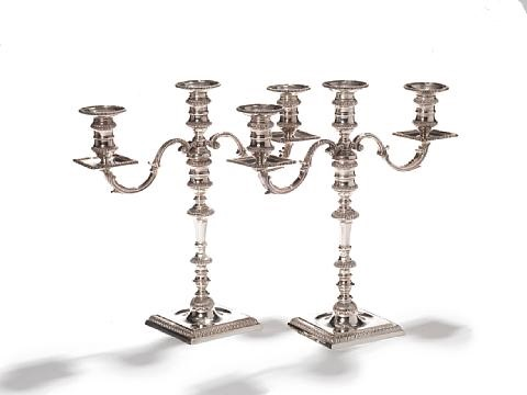 candelabracandlesticks pair by cj vander ltd