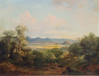 view over the rhine valley by gustav zick