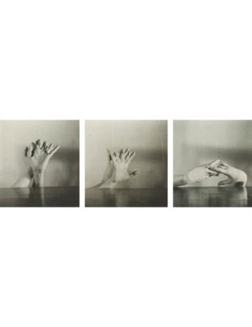 untitled hands triptych set of 3 by hans bellmer