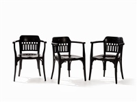 armchairs (set of 3) by otto wagner