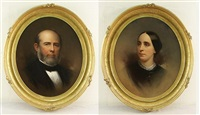 ancestral portrait (+another; pair) by samuel bell waugh