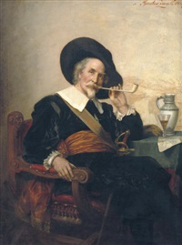 enjoying a smoke by gustav zaak